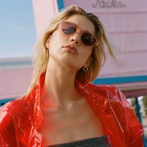 Garrett Leight DEL REY sun glasses - pink crystal